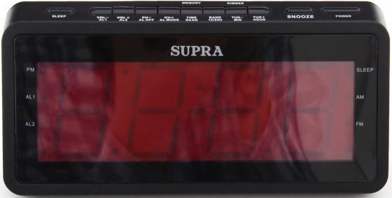 Часы с радиоприёмником Supra SA-46FM чёрный радиоприемник supra sa 46fm