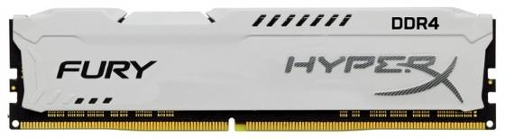 Оперативная память 8Gb PC4-21300 2666MHz DDR4 DIMM CL16 Kingston HX426C16FW2/8 модуль памяти dimm 8gb ddr4 pc21300 2666mhz kingston hyperx fury white cl16 hx426c16fw2 8