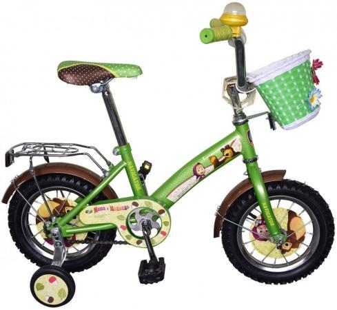 """Велосипед двухколёсный Навигатор Маша и Медведь ВН12101К 12"""" зелено-черный"""