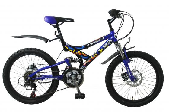"""Велосипед двухколёсный Top Gear Hooligan 225 20"""" синий ВН20038"""