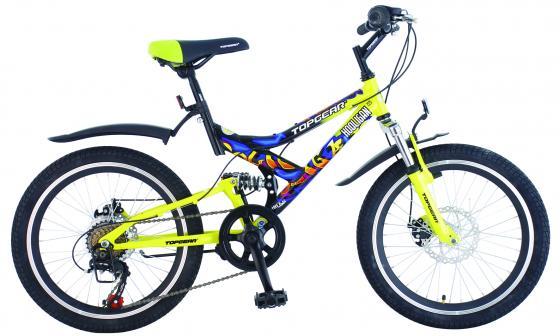 """Велосипед двухколёсный Top Gear Hooligan 225 20"""" желтый ВН20075"""
