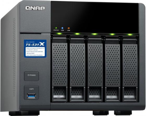 Сетевое хранилище QNAP TS-531X-8G рэковое сетевое хранилище rack nas qnap ts 531x 8g ts 531x 8g