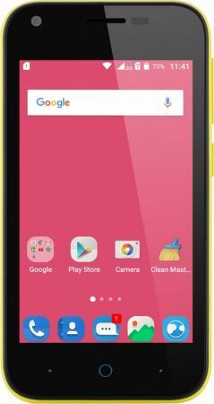 Смартфон ZTE Blade L110 жёлтый 4 8 Гб Wi-Fi GPS 3G BLADEL110YELLOW
