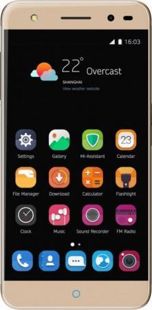 Смартфон ZTE Blade V7 Lite золотистый 5 16 Гб LTE Wi-Fi GPS 3G BLADEV7LITEGOLD смартфон zte blade а910 золотистый