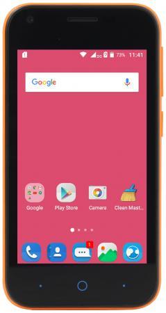 Смартфон ZTE Blade L110 оранжевый 5.1 8 Гб Wi-Fi GPS 3G BLADEL110ORANGE смартфон zte blade a610c синий 5 16 гб lte wi fi gps 3g