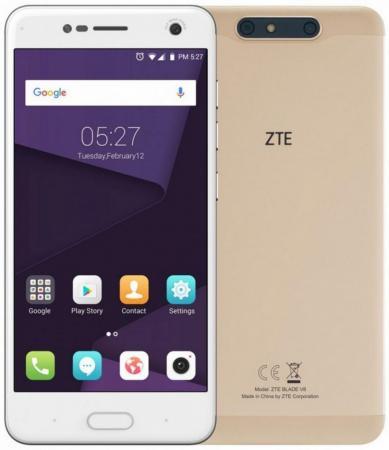 Смартфон ZTE Blade V8 золотистый 5.2 32 Гб LTE Wi-Fi GPS 3G BLADEV8GOLD смартфон zte blade v8 32gb 3gb gray