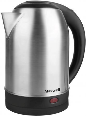 лучшая цена Чайник Maxwell MW-1077 ST 2200 Вт серебристый 1.8 л нержавеющая сталь