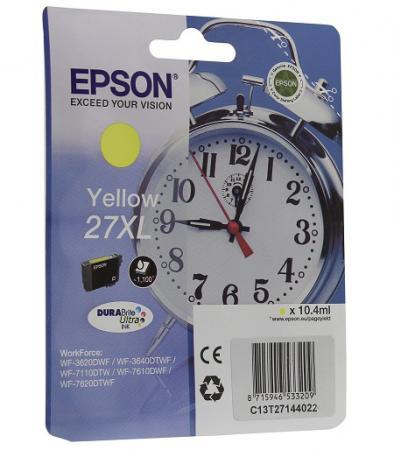 Картридж Epson C13T27144022 для Epson WF7110/7610/7620 желтый 1100стр procolor continuous ink supply system ciss europe area 27 t2701 for epson wf 7110 wf7110 wf 7110 7110dtw wf 7110dtw wf7110dtw