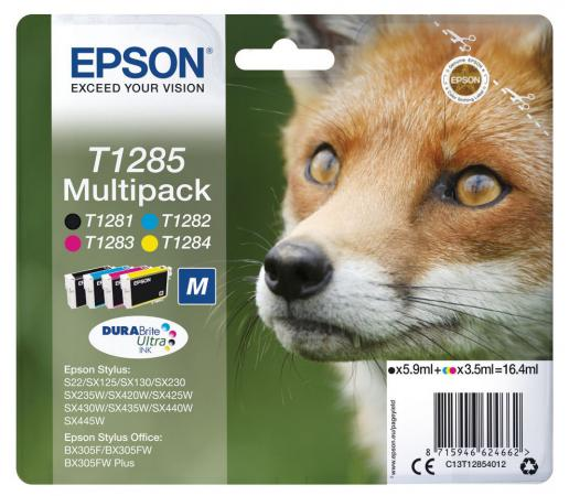 Картридж Epson C13T12854012 для Epson St S22/SX125/SX420W/Of BX305F цветной hsr35r slider block hsr35a hsr35c match use hsr35 linear guide for linear rail cnc diy parts