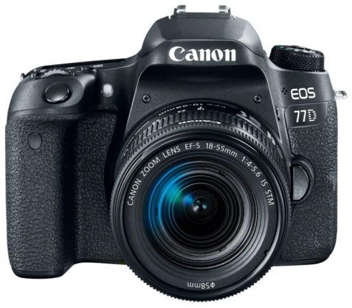 Зеркальная фотокамера Canon EOS 77D 24.2Mpix черный 1892C003 цифровая фотокамера canon eos 77d черный 1892c003