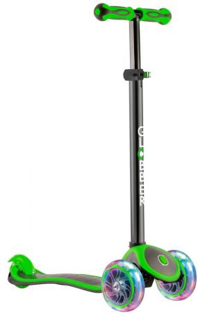 Самокат трехколёсный Y-SCOO  GLOBBER PRIMO PLUS TITANIUM с 3 светящимися колесами Neon Green 442-136 1 pairs 110cm athletic sport sneakers flat shoelaces bootlaces shoe laces strings multi color shoelace