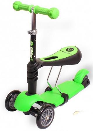 Фото Самокат-каталка трехколёсный  GLIDER SEAT green
