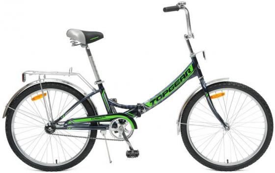Велосипед двухколёсный Top Gear Compact 50 24 черно-зеленый велосипед stern compact 24 2017