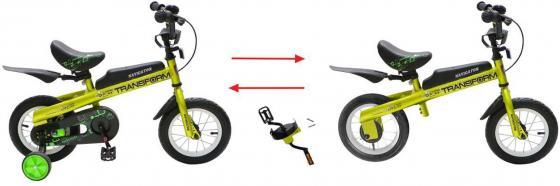 Беговел двухколёсный Navigator Transform 2 в1 12 зеленый ВН12072 велосипед двухколесный navigator superman 16