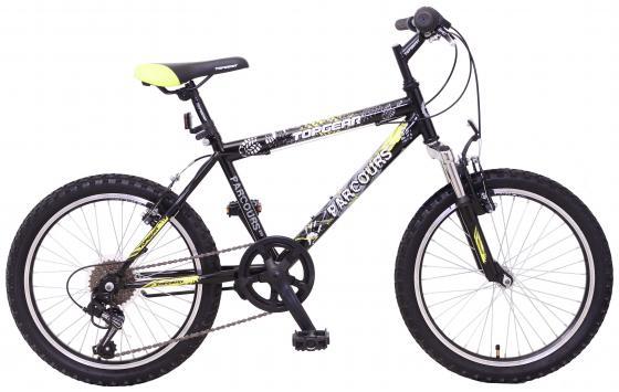 Велосипед двухколёсный Top Gear Parcours 210 20 желто-черный ВН20149 велосипед горный top gear parcours 210 диаметр колес 20 размер рамы 14 6 скоростей черный желтый вн20063