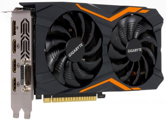 Видеокарта 2048Mb Gigabyte GeForce GTX1050 PCI-E 128bit GDDR5 DVI HDMI DP HDCP GV-N1050WF2-2GD Retail видеокарта palit geforce gtx1050 ti dual 4g ne5105t018g1 4096mb 1290mhz nvidia gtx1050 ti gddr5 7000mhz 128 bit pci e dvi dp hdmi
