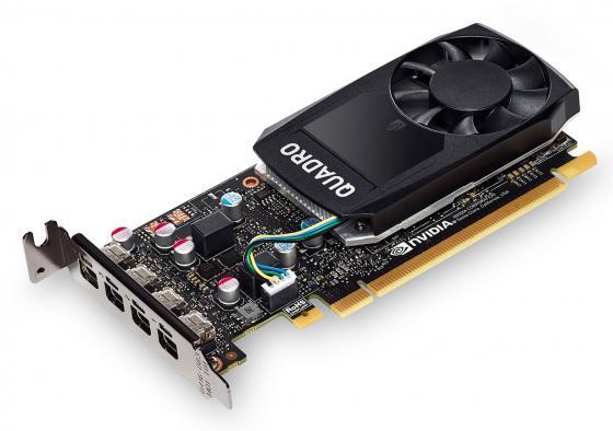 Видеокарта PNY Quadro P1000 VCQP1000DVIBLK-1 PCI-E 4096Mb GDDR5 128 Bit OEM видеокарта pny quadro nvs 300 520mhz pci e 512mb 1580mhz 64 bit