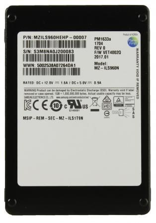 "SSD 2.5"" 960 Gb PM1633a Read 1350Mb/s Write 920Mb/s SAS MZILS960HEHP-00007"