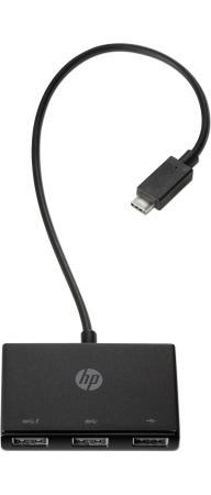 Репликатор портов HP Z6A00AA USB-C - 3 USB-A для Elite x2 1012 G2/Pro x2 612 G2/Probook x360 G1/Elitebook x360/820G4/840G4/850G4/745G4/755G4/725G4/640G3/650G3/655G3/ZBook 15u G4/470G4/450G4/440G4/430G4/1030G1