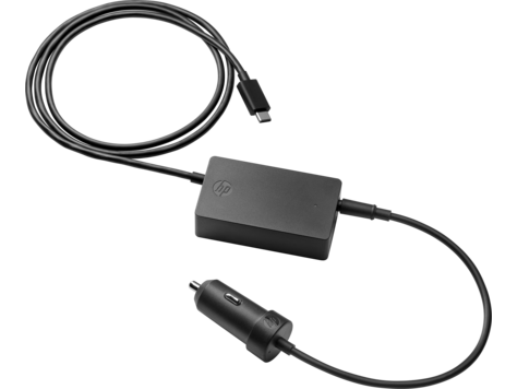 Автомобильный блок питания для ноутбука HP USB-C Auto Adapter для HP Elite x2 1012 G2/Pro x2 612 G2/HP x2 210 Tablet/Elite x3/Elite Tablet x2 1012 G1/HP x2 210 Tablet G1/Pro Tablet 608 G1 адаптер питания для ноутбука hp adapter usb c to rj45 elitebook 1030 g1 elitebook folio g1 elite tablet x2 1012 g1 pro tablet 608 g1 v7w66aa