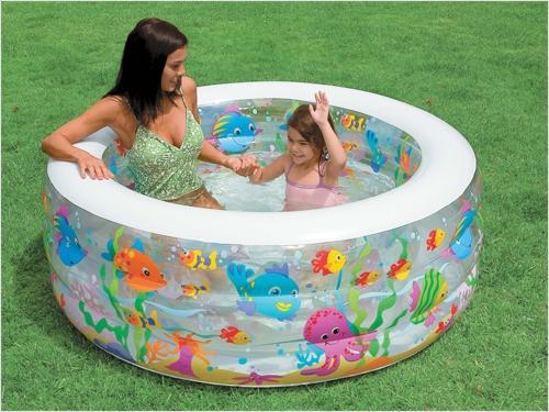 Надувной бассейн Intex Аквариум надувной бассейн intex бассейн аквариум 152 56см