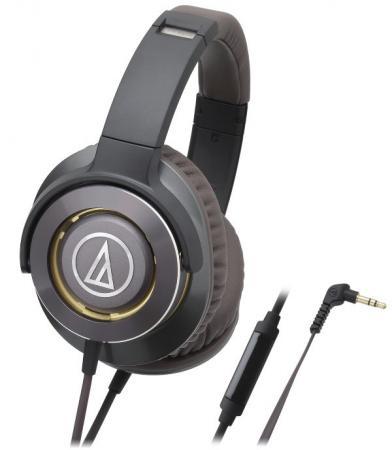 Наушники Audio-Technica ATH-WS770iS GM черный коричневый
