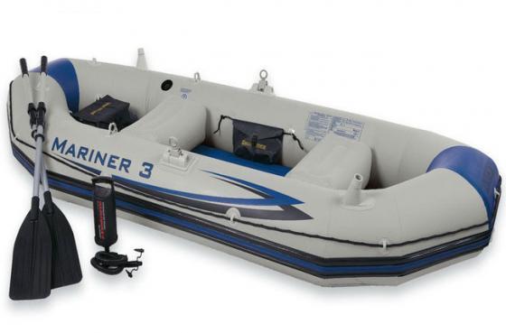 Надувная лодка INTEX Mariner 3 (68373) intex надувная лодка explorer pro 300 intex