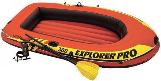 Надувная лодка INTEX Explorer PRO - 300 лодка надувная intex explorer 300 set 58332 211х117х41см насос весла
