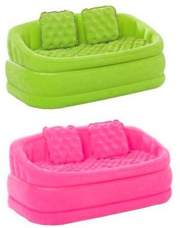 Надувное кресло-софа Intex 157х86х69см надувной матрас camping mats 127х193х24см intex