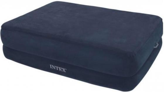 Надувной матрас-кровать INTEX Райзинг комфорт 152х203х56 см надувная кровать ultra plush bad 99х191х46см встроенный насос intex