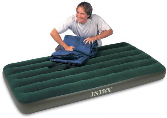 Надувной матрас INTEX Downy с66927 кровать надувная односпальная intex prime comfort со встроенным насосом 220в 64444