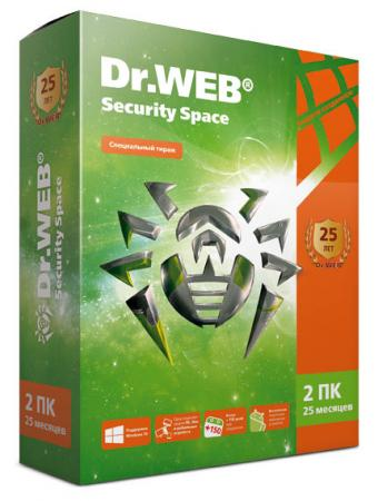 Антивирус DR.Web Security Space на 25 мес на 2 ПК AHW-B-25M-2-A2 антивирус