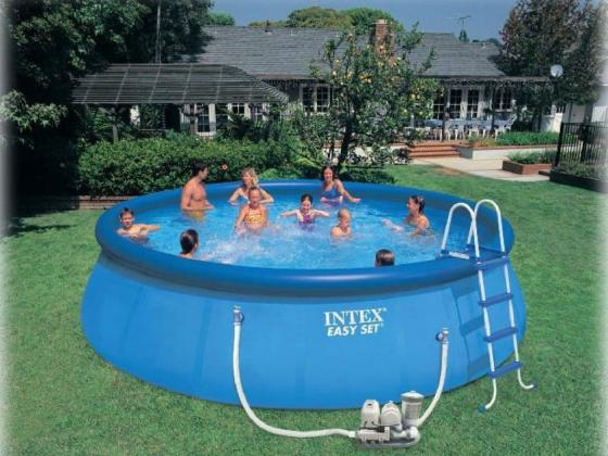 Надувной бассейн INTEX Easy Set надувной бассейн intex бассейн аквариум 152 56см
