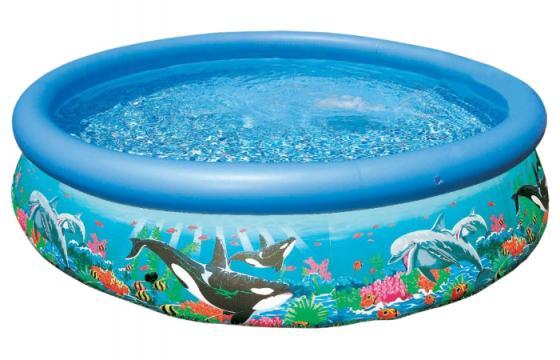 Надувной бассейн INTEX Easy Set риф океана с54904 бассейн intex круглый easy set 366х91 см