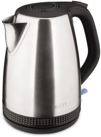лучшая цена Чайник Scarlett SC-EK21S46 2200 Вт серебристый чёрный 1.7 л нержавеющая сталь