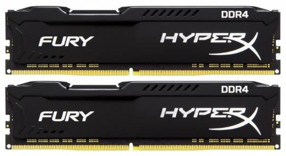 Оперативная память 16Gb (2x8Gb) PC4-21300 2666MHz DDR4 DIMM CL16 Kingston HX426C16FB2K2/16 kingston kvr21n15d8 16 ddr4 16гб pc4 21300 2133 dimm