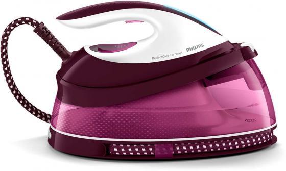 Парогенератор Philips GC7808/40 2400Вт белый фиолетовый парогенератор philips hi5912 30 белый фиолетовый 2400вт