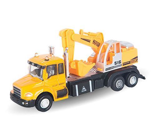 Экскаватор Autotime Excavator Truck 1:48 желтый  34126 машинки autotime машина maz 5335 милиция ссср