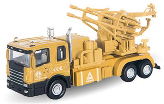Грузовик Autotime Transporter с зенитной установкой 1:48 бежевый  34135 машинки autotime машина uaz 31514 ваи