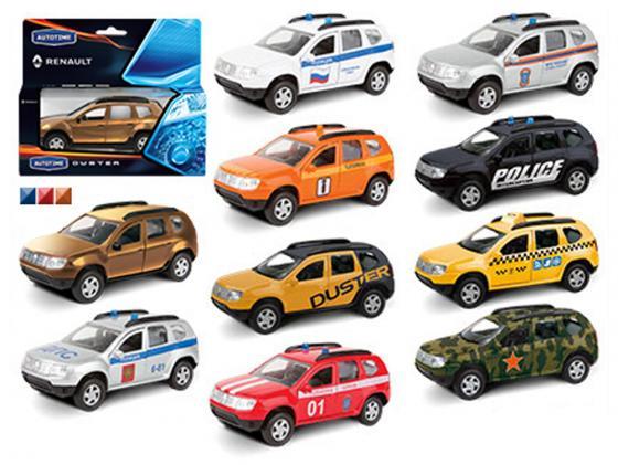 Автомобиль Autotime Rnault Duster 1:38 цвет в ассортименте в ассортименте 49499 autotime машинка color twisters цвет белый