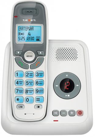 Фото Радиотелефон DECT Texet TX-D6955А Dect белый радиотелефон
