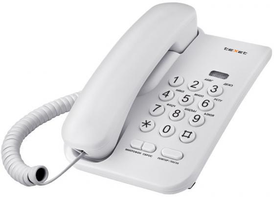 Телефон проводной Texet TX-212 серый проводной телефон texet тх 219 grey