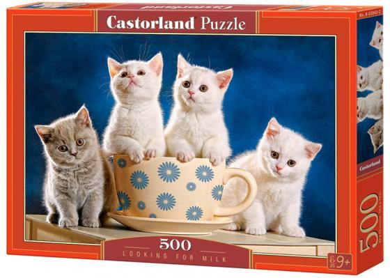 Купить Пазл 500 элементов Кастор Четыре котенка B-52042, Пазлы (200-700 элементов)