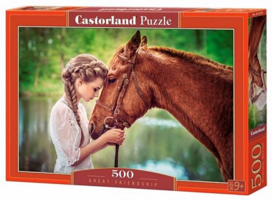 Купить Пазл 500 элементов Кастор Девушка и лошадь B-52516, Пазлы (200-700 элементов)