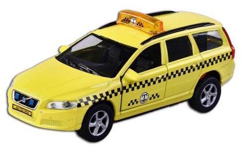 Машина Пламенный мотор Volvo V70 Такси 13 см желтый  870190 оборудование для диагностики авто и мото autoscannertool volvo pro volvo volvo vida