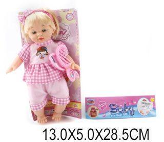 Пупс Shantou Gepai Baby с аксессуарами 28 см со звуком  ZY3-10E кукла shantou gepai amore baby 23 см p8872 16 pvc