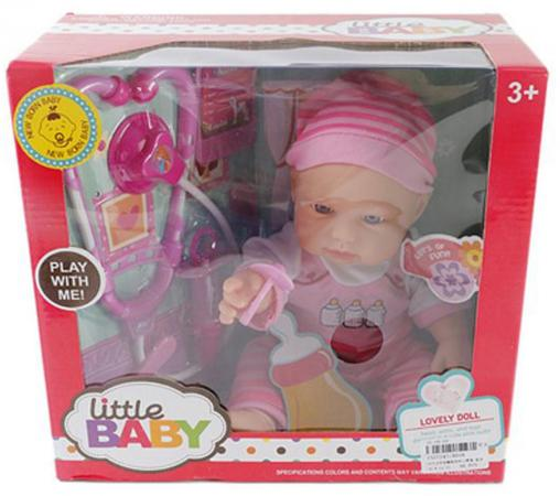 Пупс Shantou Gepai Little Baby - Лечение пупса 35 см со звуком AD18 пупс shantou gepai любимая кукла 30 см со звуком ld9913f