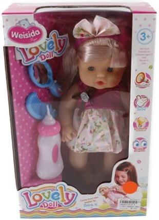 Кукла Shantou Gepai Даша в розовом платье 30 см со звуком 6620-8 кукла маленькая леди даша в платье 1979746