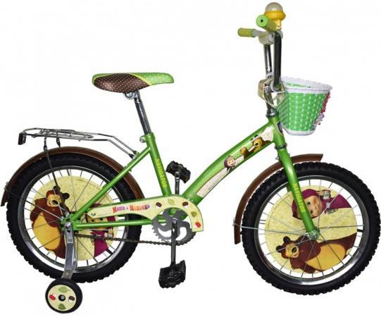 Велосипед двухколёсный Navigator Маша и Медведь 18 желто-зеленой велосипед двухколёсный navigator миньоны 18 желтый вн18074