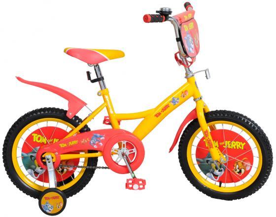Велосипед двухколёсный Navigator Том и Джерри 16 желто-оранжевый велосипед двухколесный navigator superman 16